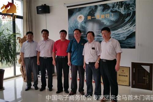 木门生产厂家金马首迎来中国电子商务协会专家团